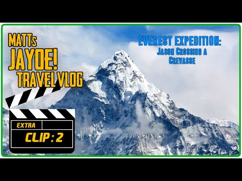 EVEREST EXPEDITION CLIP:  Jason Crossing a Crevasse