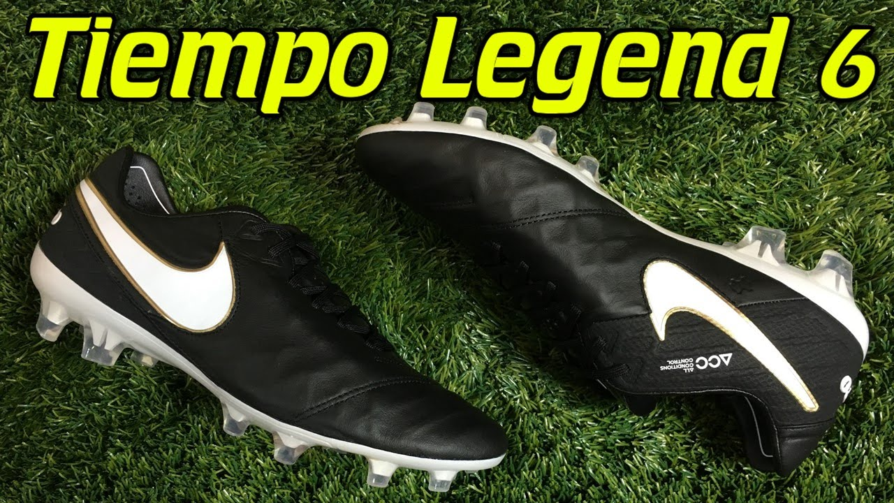 best service 88a5a 81d02 Nike Tiempo Legend 6 BlackWhiteMetallic Gold - Review + On Feet - YouTube