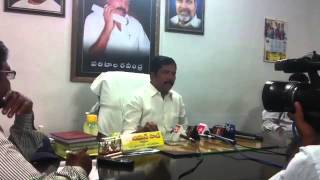 Pressmeet By Sri Chamansab ZP Chairman/Anantapur Regarding Tour Bus Of ZPTCs