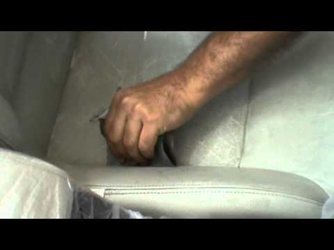 Ricondizionamento sedili pelle saab cabriolet.avi