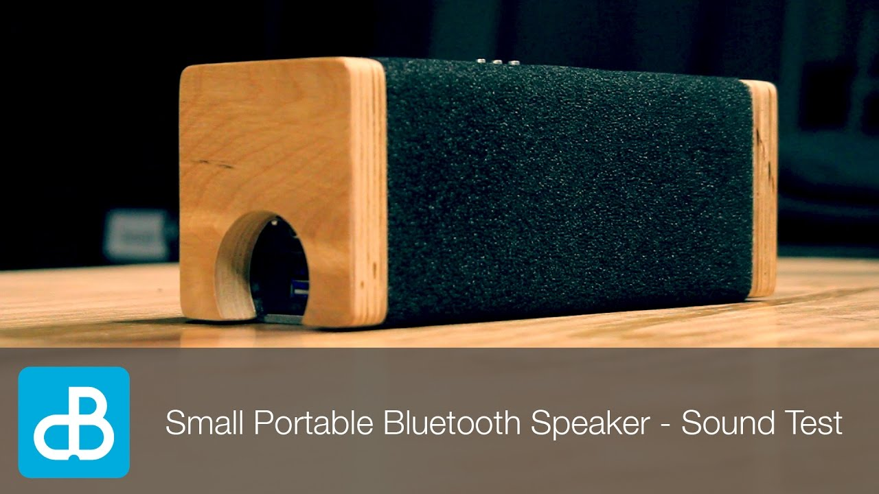 small portable bluetooth speaker sound test by soundblab youtube. Black Bedroom Furniture Sets. Home Design Ideas