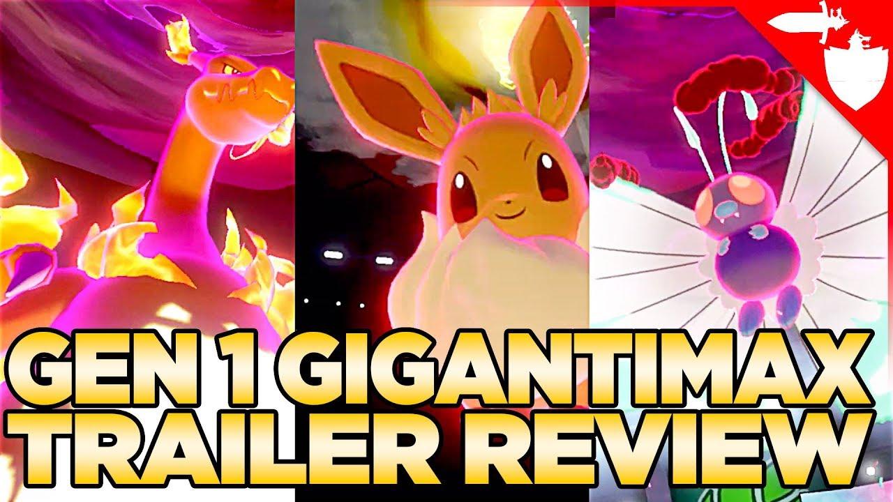 Download Gen 1 Gigantimax Trailer Analysis - Fat Pikachu, Charizard, Butterfree - Pokemon Sword and Shield