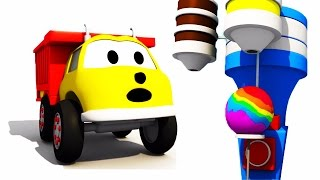 The Giant Lollipop: learn colors with Ethan The Dump Truck | Educational cartoon for children