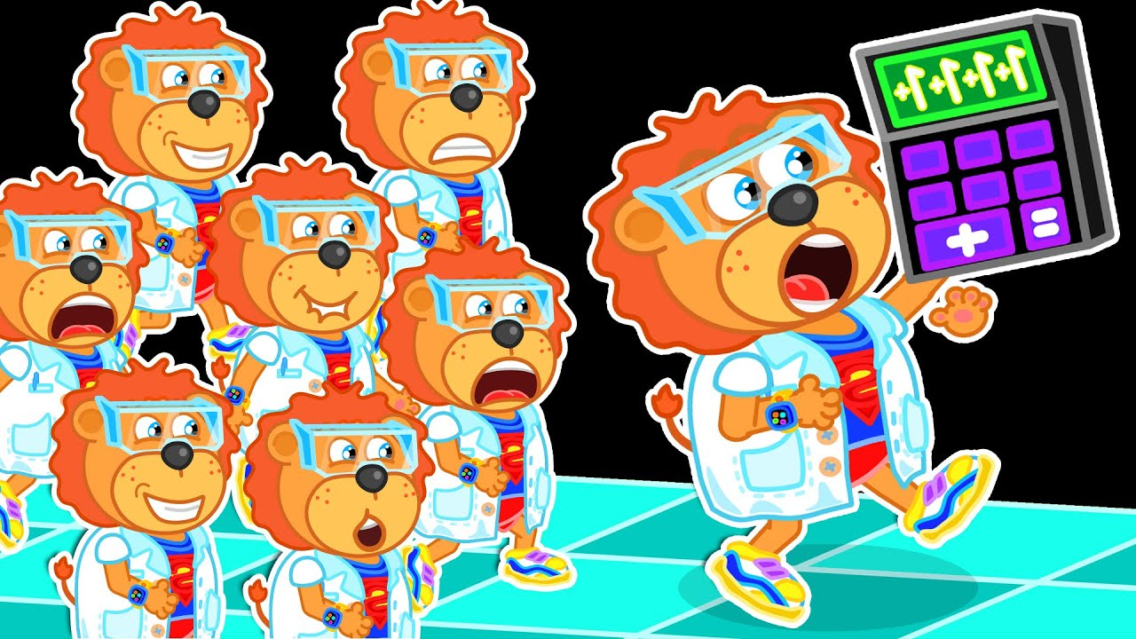 Lion Family | Clone from Lab | Cartoon for Kids