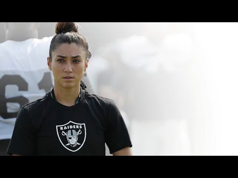 f19a7b7f3ad Kelsey Martinez Oakland Raiders First Female Assistant Coach Focuses ...