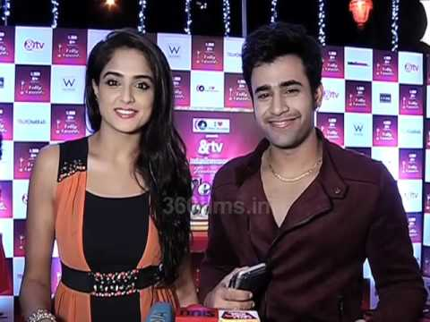 Badtameez Dil Couple Pearl (Abeer) & Asmita (Meher) - 14th Indian Telly Awards Pre Party 2015