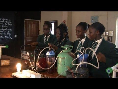 Schoolgirls hit on novel energy idea