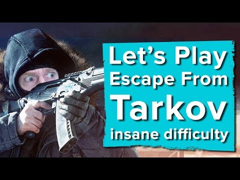 Let's Play Escape From Tarkov closed beta gameplay - HOW LONG CAN IAN SURVIVE ON INSANE DIFFICULTY?!