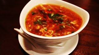 Hot & Sour Chicken Soup - How To Make Sour And Spicy Chicken Soup Recipe Video