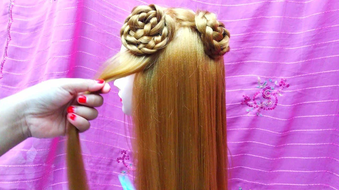 Simple Hairstyles | Gaya rambut sederhana bentuk bunga ...