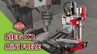 Sieg X2 Masaüstü Mini Freze Tezgahı - İnceleme Kutu Açılışı