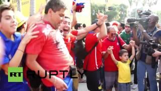 Brazil: Chile fans storm Maracana stadium before World Cup match