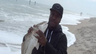 Surf fishing for Red drums and Flounders Carolina style