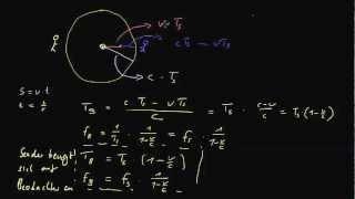 Doppler Effekt 3 - Formel für die beobachtete Frequenz, Teil 2