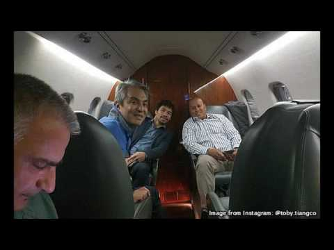 Traveling in style: Pacquiao Takes Bato, Tiangco, Zobel de Ayala To LA Via Private Jet