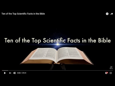 Living Waters: Ten Of The Top Scientific Facts In The Bible.