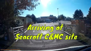 Autumn trip to Norfolk - Arriving at Seacroft Caravan & Motorhome club site