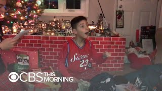 New Jersey boy's selfless Christmas wish comes true