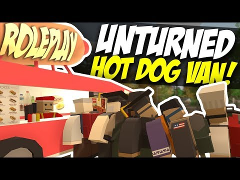 HOT DOG VAN - Unturned Roleplay | Mobile Shop!