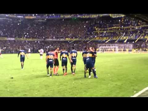 BOCA 2 vs riBer 0 -Torneo 2015 - Gol de Perez