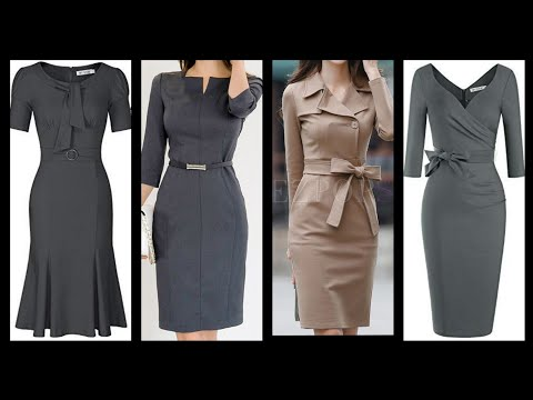 Latest Office Wear Bodycon Pencil Dresses Collection For Women