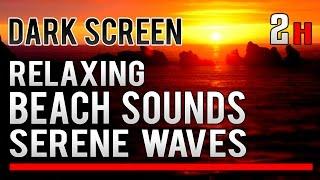 ✪ DARK SCREEN ✪ Relaxing Sounds Of The Sea | Ocean Waves For Sleeping And Meditation ☯Zen☯