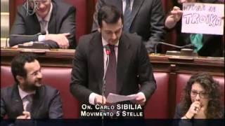 Movimento 5 Stelle Sibilia a Renzi - Fiducia Governo : Boldrini Video Parlamento II