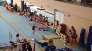 Прыжок. Соревнования по спортивной гимнастике