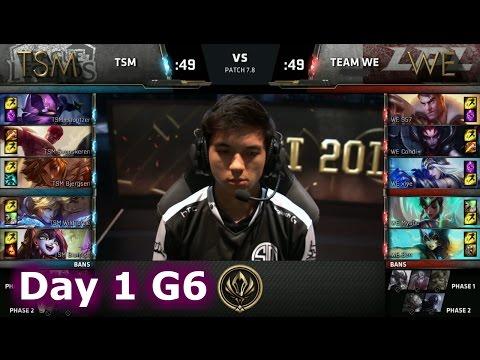 TSM vs Team WE | Day 1 Game 6 LoL MSI 2017 Group Stage | TSM vs WE Mid Season Invitational