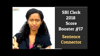 SBI Clerk 2018 Score Booster #17 - Sentence Connector | TalentSprint