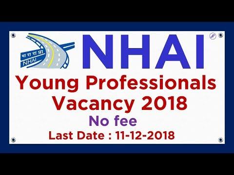 NHAI Young Professionals Recruitment 2018 | NHAI Vacancy 2018 | Employments Point