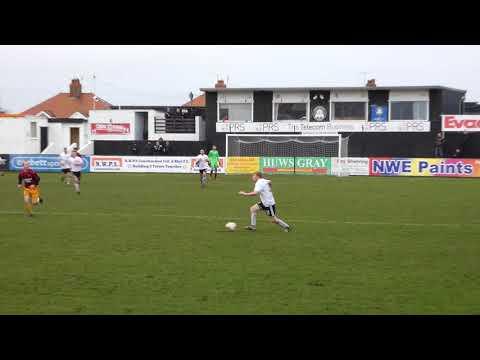 Rhyl penalty save (2) v Penrhyncoch (2) Welsh Cymru Alliance Football Wales 3.2.18 UK