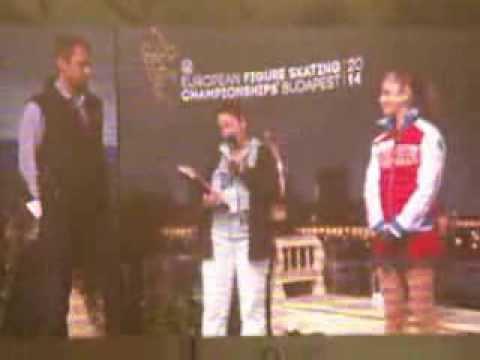 Budapest-2014 Julia LIPNITSKAIA (Interview post-competition) (European championship)