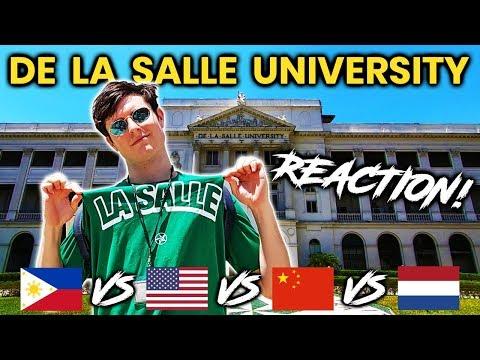 Foreigner Reacts to DE LA SALLE UNIVERSITY (DLSU)! Filipino University Tour!