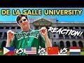 Foreigner Reacts to DE LA SALLE UNIVERSITY DLSU! Filipino University Tour!