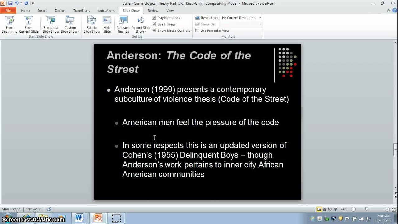 analysis of elijah andersons ethnography essay Hands by sherwood anderson literary analysis essay 1154 words 'code of the street' by elijah anderson essay on analysis of the enron/arthur anderson scandal.