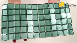 Glass Mosaic Tile Backsplash Marine 1x1 - 101CHIGLABR136