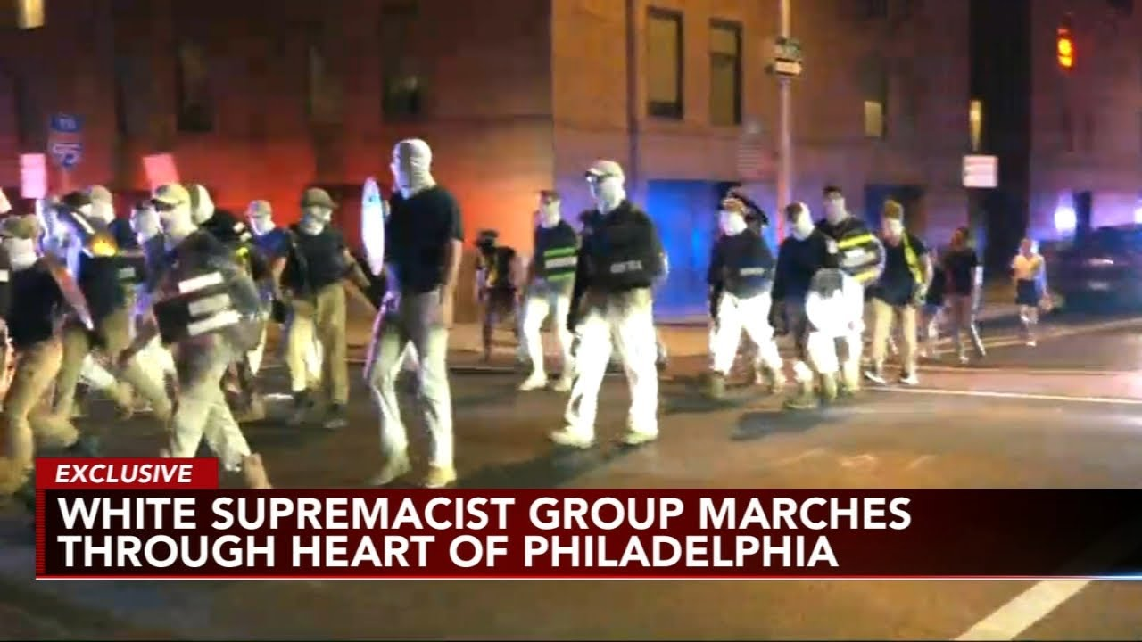 White supremacist group 'ran away from the people of Philadelphia,' police say