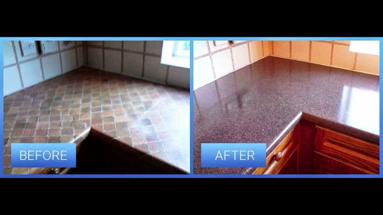 before and after refinishing bathtub