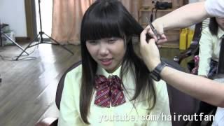刈り上げJK 3  ☆ High School Girl Haircut  断髪