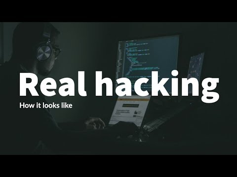 How hacking actually looks like.