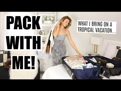 PACK WITH ME... Tropical Vacation!