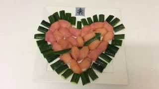 "Sushi ""love Heart - Happy Valentine's Day"" Smoke Salmon & Cucumber"