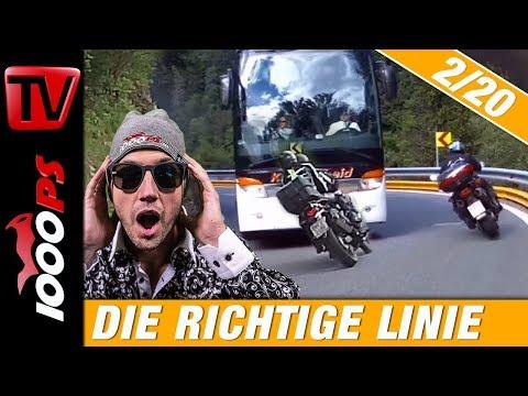Die richtige Linie auf der Landstraße mit dem Motorrad - Motorrad fahren lernen 2/20