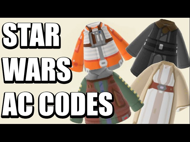 Tons Of Star Wars Animal Crossing New Horizons Codes Youtube