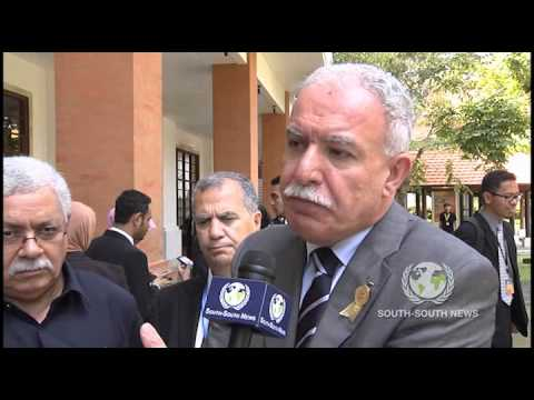 Interview with Dr  Riad Malki Minister for Foreign Affairs Palestine