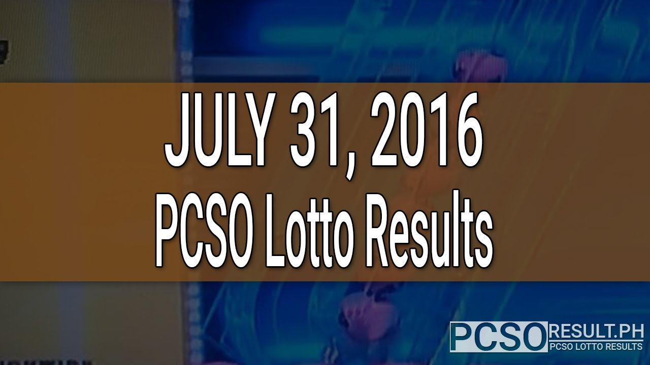PCSO Lotto Results July Swertres EZ YouTube - 2017 july 31