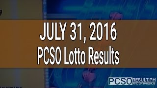 PCSO Lotto Results June 29, 2016 (6/55, 6/45, 4D, Swertres & EZ2) PCSO LOTTO RESULTS TODAY, OCTOBER 2, 2016 For previous PCSO LOTTO results, visit