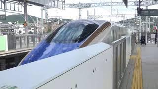 【接近メロディー海の駅】JR北陸新幹線軽井沢駅 E7系はくたか565号通過動画