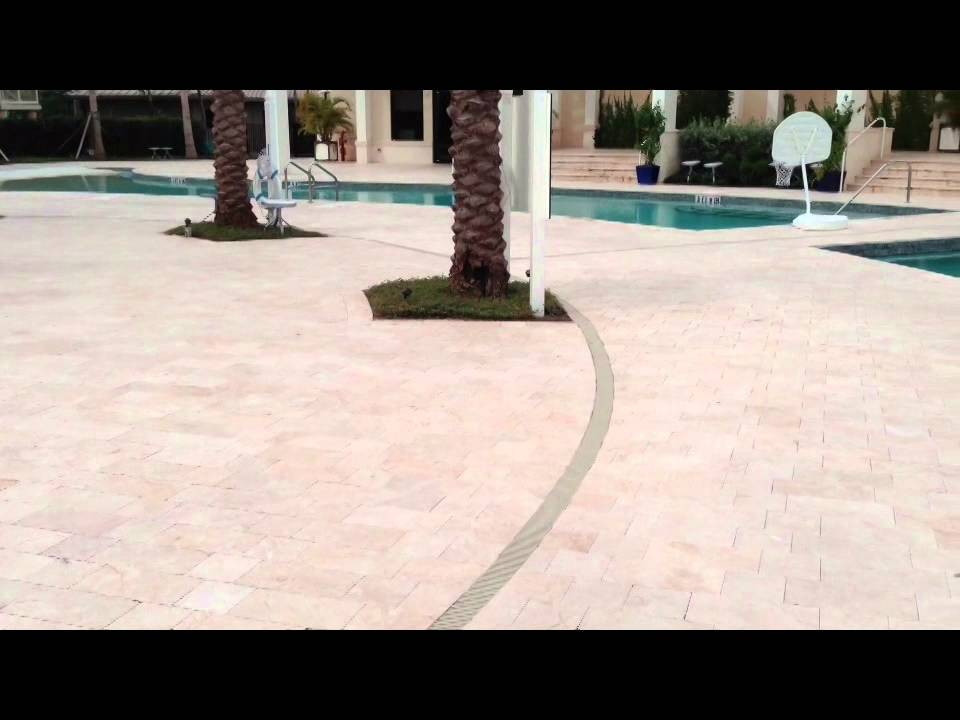 Non Slip Lication On Travertine Pool Deck